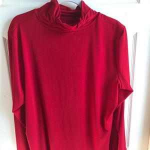 EUC Ruched Turtleneck Liquid Knit 18/20W Relaxed